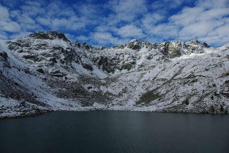 Lake and high Alps, Parco Naturale Adamello Brenta, Italy Stock Photo