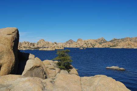 Watson Lake, Arizona Stock Photo
