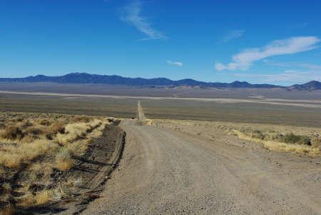 Jeep road near Berlin, Nevada Stock Photo