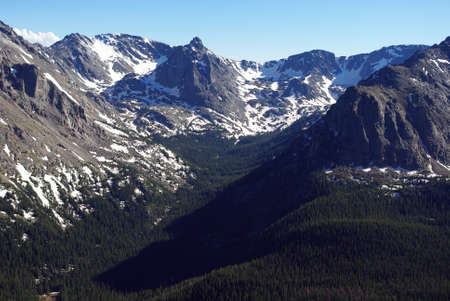 High forested mountain valley and Rockies, Colorado Stock Photo - 13553023