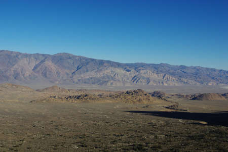 Alabama Hills from road to Sierra Nevada, California photo