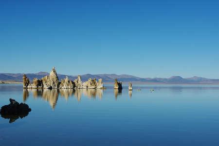 Tufa islands, Mono Lake, California