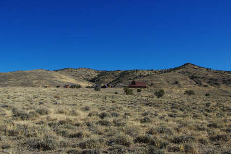 ghost town: Ghost town of Berlin, Nevada Stock Photo