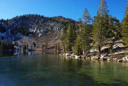mammoth lakes: High mountain lake near Mammoth Lakes, California Stock Photo