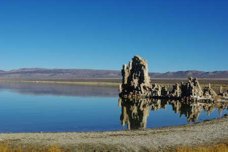Beautiful tufa formations, Mono Lake, California