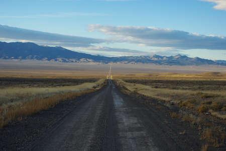 Jeep road through vast Nevada desert