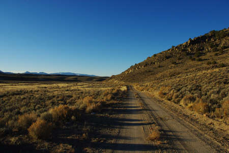 Jeep road near Potts, Nevada desert Stock Photo - 13723864