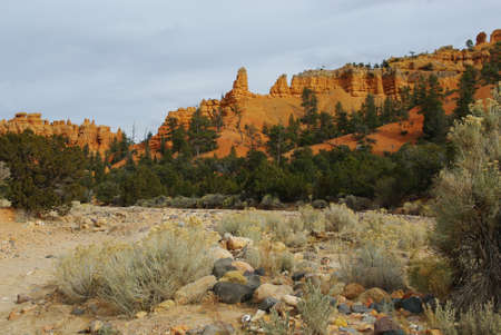 Red Canyon under clouds, Utah photo