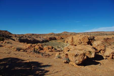 Scenery near Peek-a-boo slot canyon, Utah photo