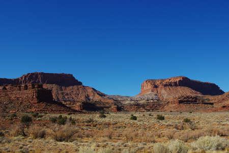 Red rocks and blue sky, Utah Stock Photo