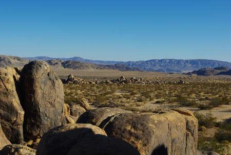 Interesting rocks near Lucerne Valley, California
