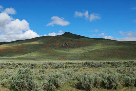 challis: Shadow and light on mountains, Idaho