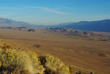 High above Alabama Hills from Sierra Nevada, California photo