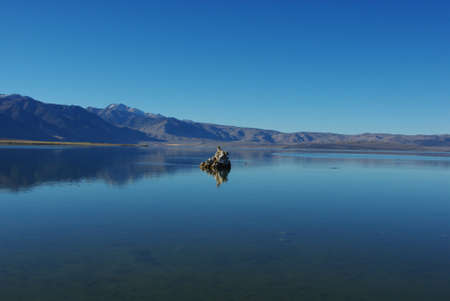 Tufa island, Mono Lake, California photo