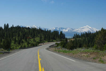 Highway 7 and Strawberry Mountains near Prairie City, Oregon