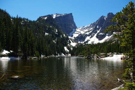rocky mountains colorado: High mountain lake, Rocky Mountains, Colorado