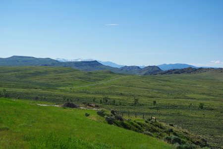 Towards Cody, Wyoming