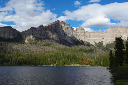 bridger: Brooks Lake and Bridger Teton Rockies, Wyoming Stock Photo