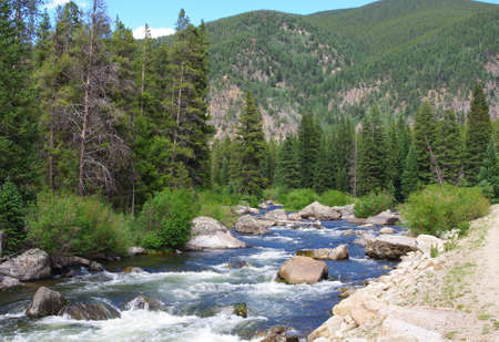 colorado: Taylor River near Gunnison and Crested Butte, Colorado