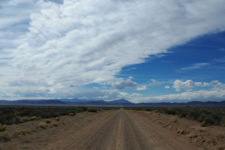 Jeep road through Dry Lake Valley, Nevada photo