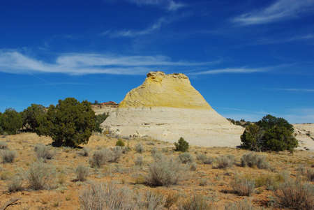 escalante: Bicoloured rock hill near Spencer Flat Road, Grand Stair Escalante National Monument, Utah