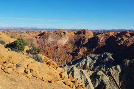 upheaval: Partial view of Upheaval Dome, Canyonlands National Park, Utah Stock Photo