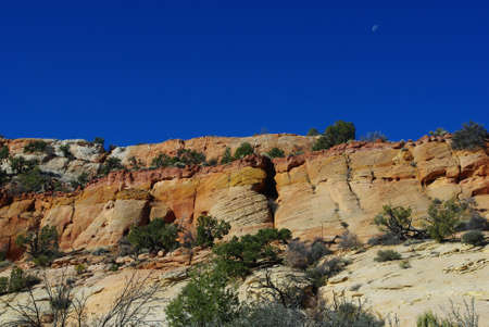 Multicolored rocks in secluded side canyon near Spencer Flat Road, Utah