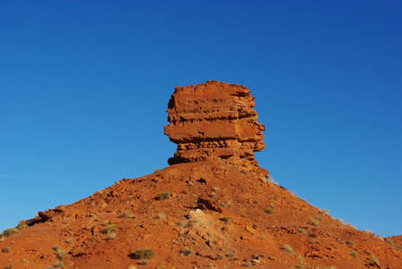 red bluff: Red rock formation near Bluff, Utah