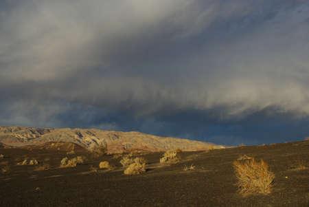 Last sun light near Ubehebe Crater, Death Valley, California photo