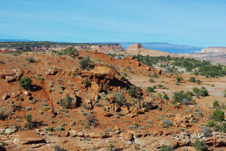 Scenery in secluded valley near Escalante, Utah photo