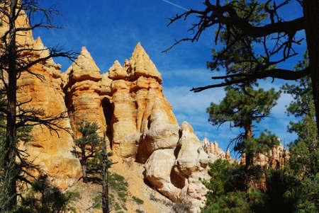 Particular rock towers, Bryce Canyon, Utah