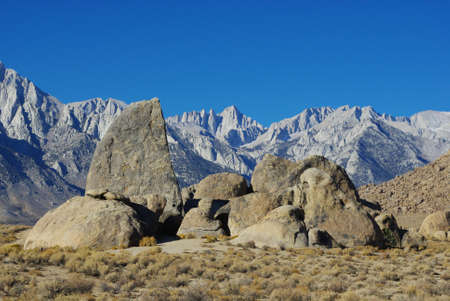 Alabama Hills and Sierra Nevada, California photo