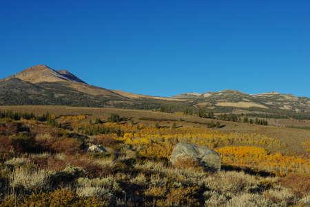 Autumn in the mountains, California Stock Photo