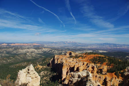 Wide view over Bryce, Grand Stair Escalante and Dixie National Forest, Utah photo