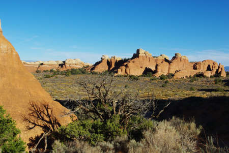 Late afternoon in Arches National Park, Utah