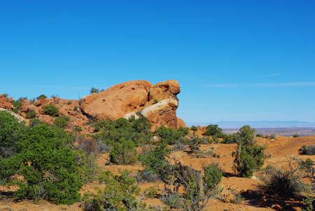 upheaval: Rocks near Upheaval Dome, Utah