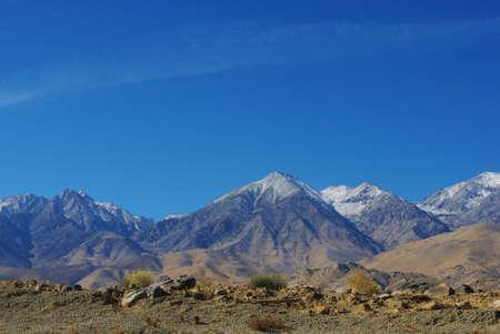 High desert and Sierra Nevada Stock Photo