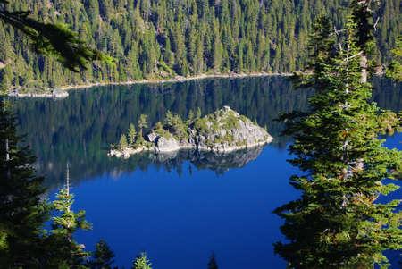 fannette: Fannette Island, Lake Tahoe, California Stock Photo