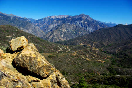 On the road to Kings Canyon, California Stock Photo
