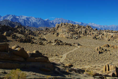 Sand road through the Alabama Hills