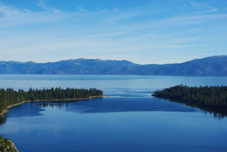 Lake Tahoe with Emerald Bay, California Stock Photo