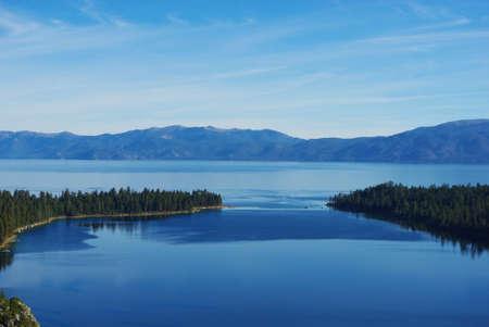 Lake Tahoe with Emerald Bay, California Stock Photo