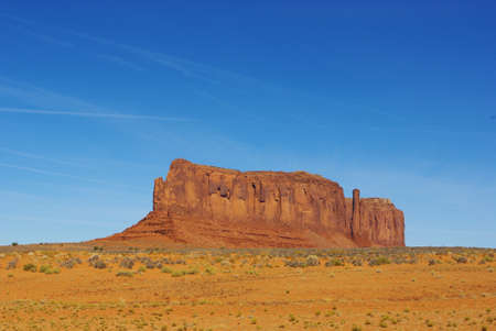 Gigantic rock wall, Arizona Stock Photo