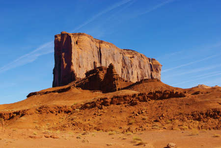 Monument Valley rock wall Stock Photo