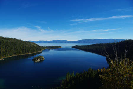 Emerald Bay and Lake Tahoe with Fayette Island, California