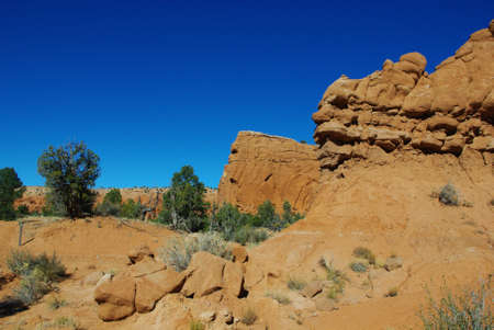 Hiking through Kodachrome, Utah Stock Photo