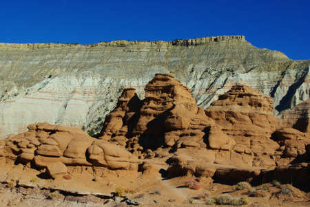 Hiking through beautiful rocks, Kodachrome Stock Photo