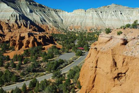 Road through Kodachrome, Utah Stock Photo