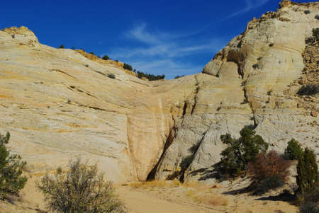Dry fall in secluded canyon, Utah