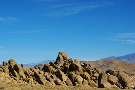 Bizarre Alabama Hills rocks Stock Photo